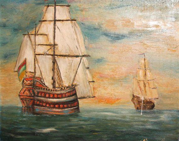 1492 Columbus Sailed the Ocean Blue by Debra Boudreau on Etsy