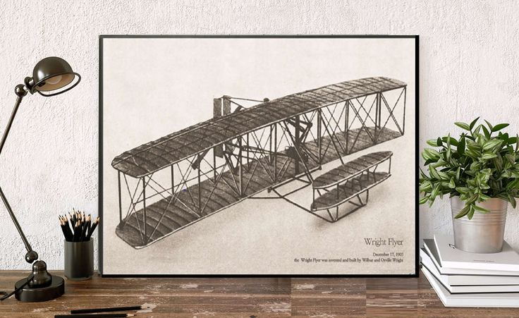 Huge vintage print/Wright Flyer poster illustration/vintage wall Decor/Antique wall Aviation Airplanes,airplane wall art/unique decor boy by AllThatArtVille on Etsy