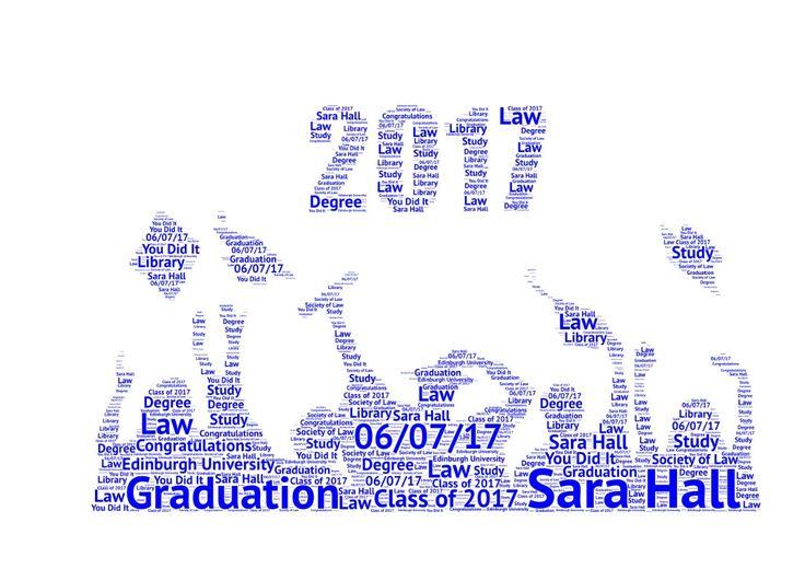Graduation Word Art Print 2017 Graduation Present Graduation Congratulations by SandraCraftyCardz on Etsy