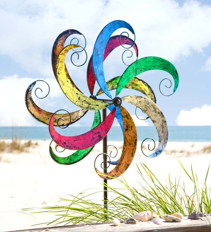 #Colorful #Waves Metal Wind #Spinner