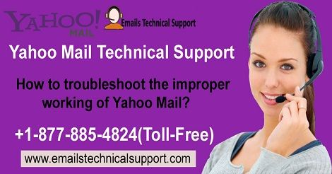 1-877-885-4824(1-877-885-4824) How to troubleshoot the improper working of Yahoo Mail?