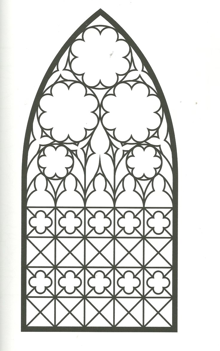 coloring page religious stained glass