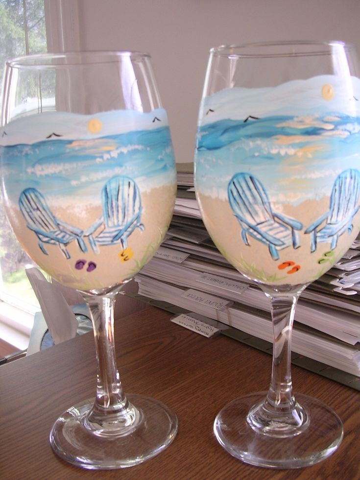 340 best painted glasses images on pinterest painting on for How to paint a wine glass with acrylics