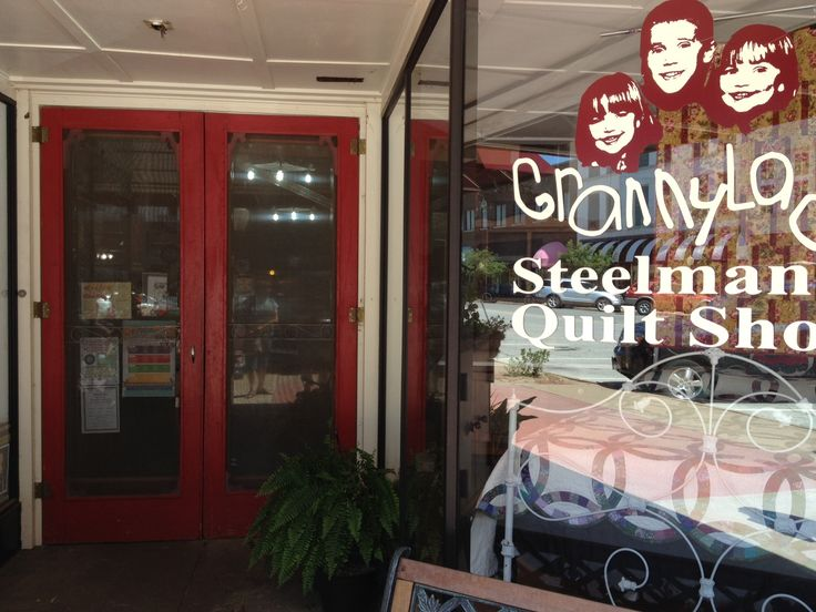 Steelman's Quilt Shop in Chickasha, OK in downtown.  Inviting Antique and Craft stores around it!  Had beautiful quilts on display with an amazing use of color!