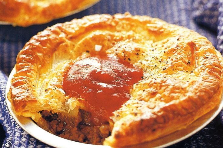 An Aussie icon, this classic pie is made with a shortcrust base and a rich beef mince gravy.