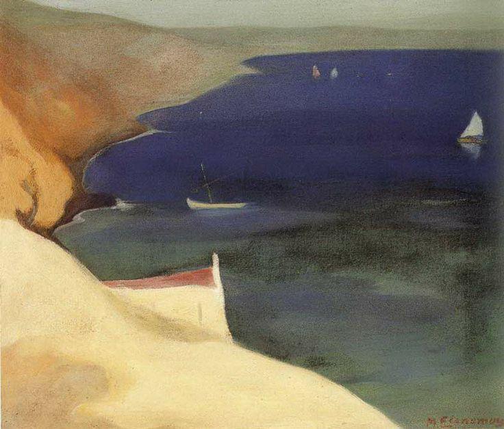 .:. Οικονόμου Μιχαήλ – Michail Oikonomou [1888-1933]-Θαλασσινό τοπίο 2