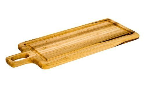Proteak 18 by 7 by 3/4-Inch Rectangle Cutting Board with Rounded Handle by ProTeak. $18.99. Our teak ages well, assuming warmer and richer tones over time. Minimal care, simply wash with soapy water and apply mineral oil occasionally. Functional and durable, gentle on knife blades. Manufactured from teak grown on our own sustainable plantations on Mexico's Pacific coast. Aesthetically unique, no two boards are the same. Proteak has designed its line of cutting boards to meet ...