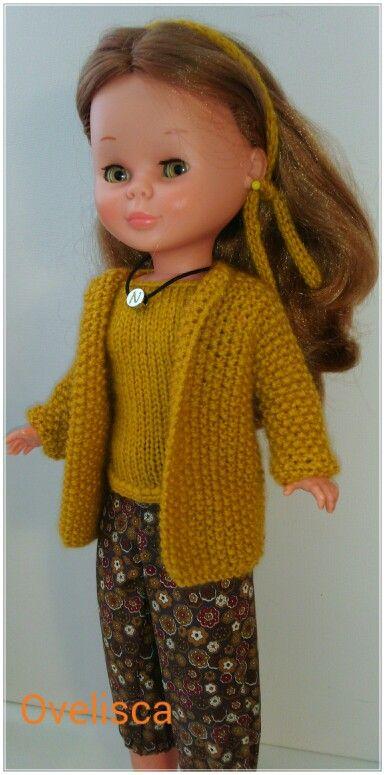 OVELISCA - Pantalón bombacho y conjunto de chaqueta y jersey de punto para muñeca Nancy