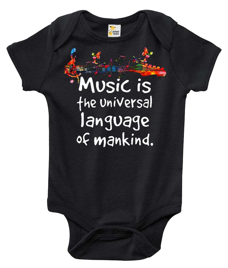 Music Is The Universal Language of Mankind One-piece Baby Bodysuit