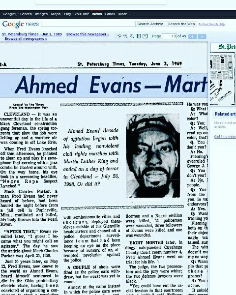 Glenville shootout  TheGlenville shootoutwas a gun battle which occurred on the night of July 23–24, 1968, in theGlenvillesection ofCleveland,Ohio, in the United States. Gunfire was exchanged for roughly four hours between theCleveland Police Departmentand the Black Nationalists of New Libya, aBlack Powergroup. The battle led to the death of three policemen, three suspects, and a bystander. At least 15 others (police, gunmen, and bystanders) were wounded.