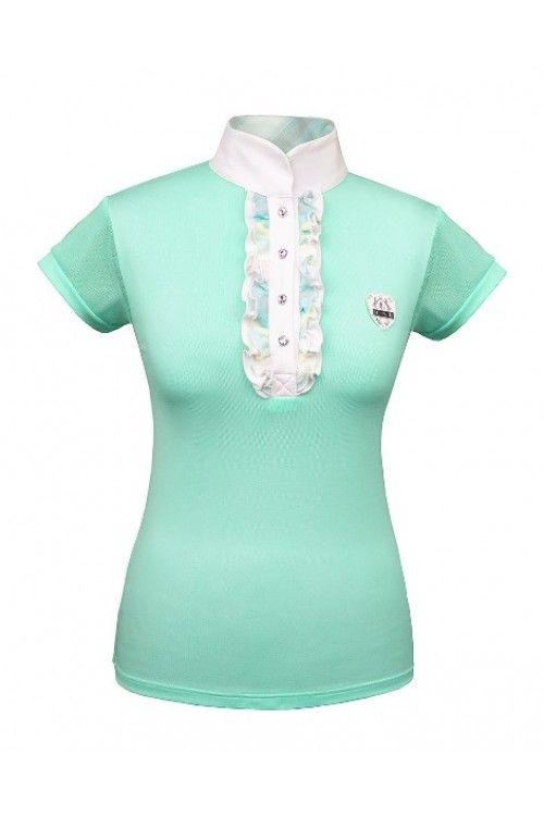 Fair Play wedstrijdshirt Megan  •Wedstrijdshirt met hoge witte kraag en van een zachte ademende stof die tevens uw vocht goed afvoert.