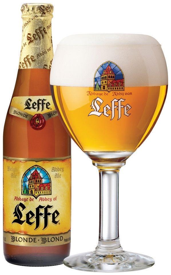 Leffe Blonde Abbey Ale, the Belgian beer I drank on Belgium