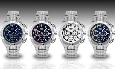 image for Wohler Cohen Men's Racing-Style Chronograph Watch