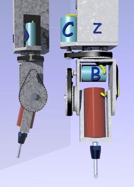 plans to make a Z,C,A axle cnc head