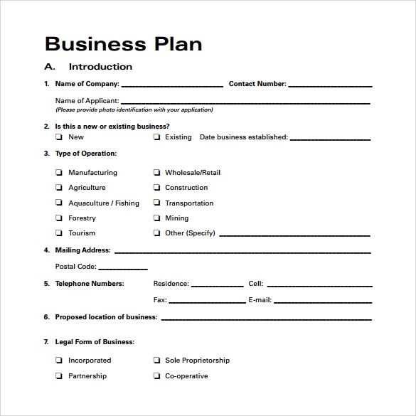 Simple Business Plan Format from i.pinimg.com