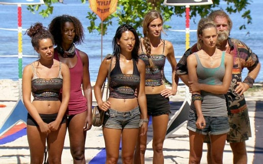 Survivor One World Episode 13: This Is A Woman's World    Girl Power! Eliza cheers the all-female Final Five.    http://www.realitynation.com/tv-shows/survivor/one-world-episode-13-final-five-are-all-women-13332/
