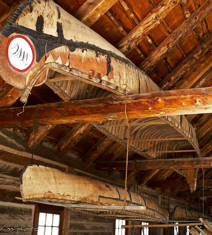 Canoe shed at Fort William Historic Park in Thunder Bay, Ontario, Canada