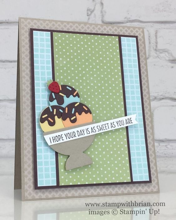 Cool Treats, Frozen Treats Framelits Dies, Tasty Treats Specialty Designer Series Paper, Stampin' Up!, Brian King, Fusion Challenge:
