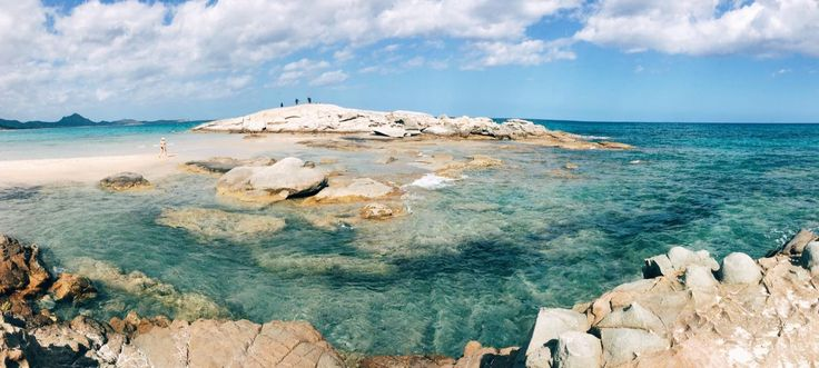 """Only a few meters from La Villa del Re #hotel in #Sardinia you will find this important touristic sight called """"Lo Scoglio di Peppino"""" featured by a cristalline and emerald #sea and a white sandy #beach"""