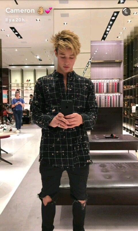 "::Cameron Dallas::""hey, I'm Cameron but everyone knows me as Cam""I smile""I'm 18 and single, but I'm not the best guy for a relationship. I'm very rich and everyone in this town knows who I am, the mayors son""I smile""I'm apart of Magcon and I'm a model. Ari is my sister. That's it about me, come say hi?"""