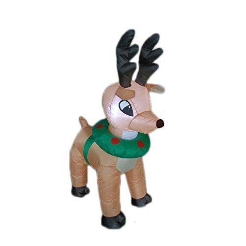 Christmas Reindeer Moose Airblown Inflatable 4 Ft Yard Lighting Xmas Decor #easy_shopping08