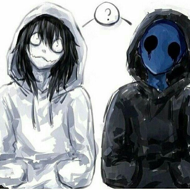 Jeff the Killer, Eyeless Jack, text, funny; Creepypasta