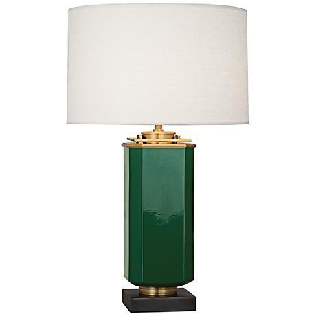 Jonathan Adler Barcelona Emerald Green Table Lamp - #7V818 | www.lampsplus.com