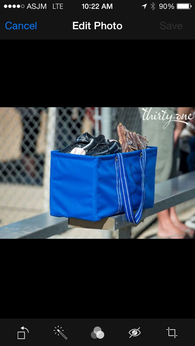 Glove?  Check!  Baseball?  Check!  Cleats?  Check!  Check!   Cheer your kids on from the stands this fall and don't forget to pile all of their essentials for the big game in your Large Utility Tote!    www.mythirtyone.com/smercado