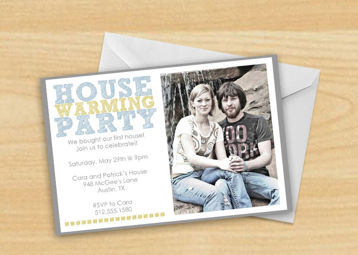 House Warming Party Invitation with Photo.