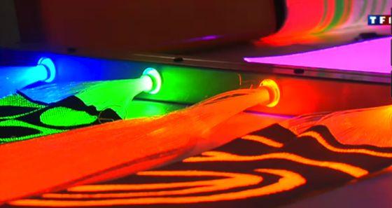 fibre optique lumineuse