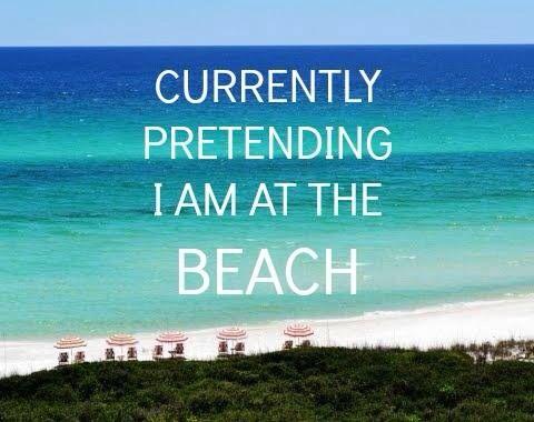 Pretending I am at the beach