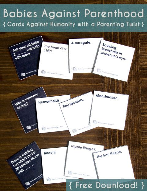 Babies against parenthood card game