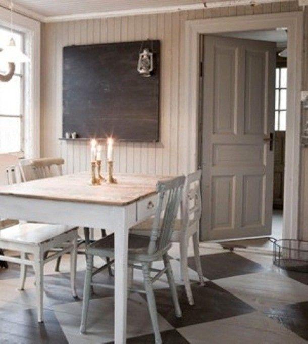 ... Eetkamer Stoelen : Scandinavische eetkamer in zwart wit grijs hout met