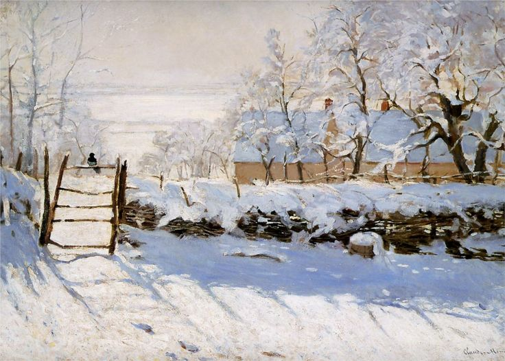 Monet's 'The Magpie'  I don't usually like snow paintings but this is so beautiful!