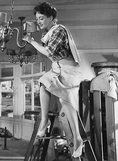 "Joan Crawford, ""Mildred Pierce ""— 1945 ""It's times like these that make me glad nylons are out for the duration!""-- Zachary Scott as Monte Baragon to Crawford's Mildred Pierce."