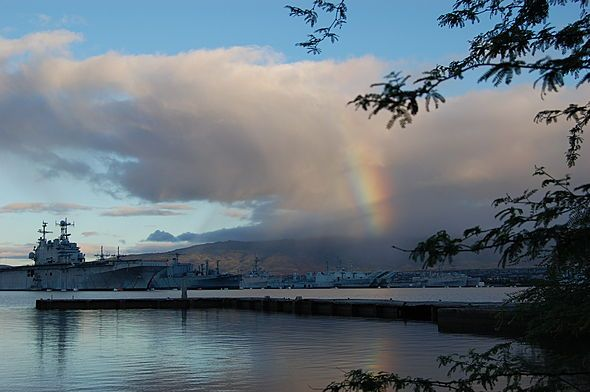"AccuFan Weather Photo of the Day: Hint of a rainbow in Pearl City, Hawaii, by ""greg3566"" 6/28/13."