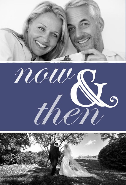 Now And Then Photo (Set) 25th Anniversary Party Invitation by PurpleTrail.com