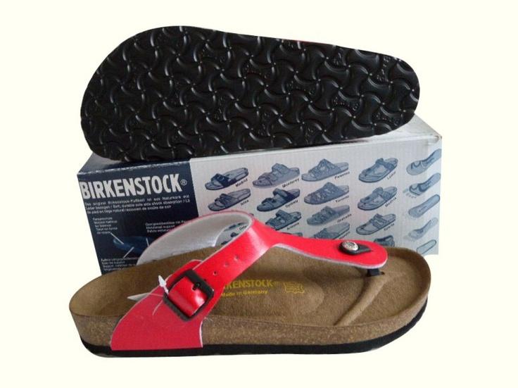 Birkenstock Outlet: Birkenstock Gizeh Sandals Red Patent