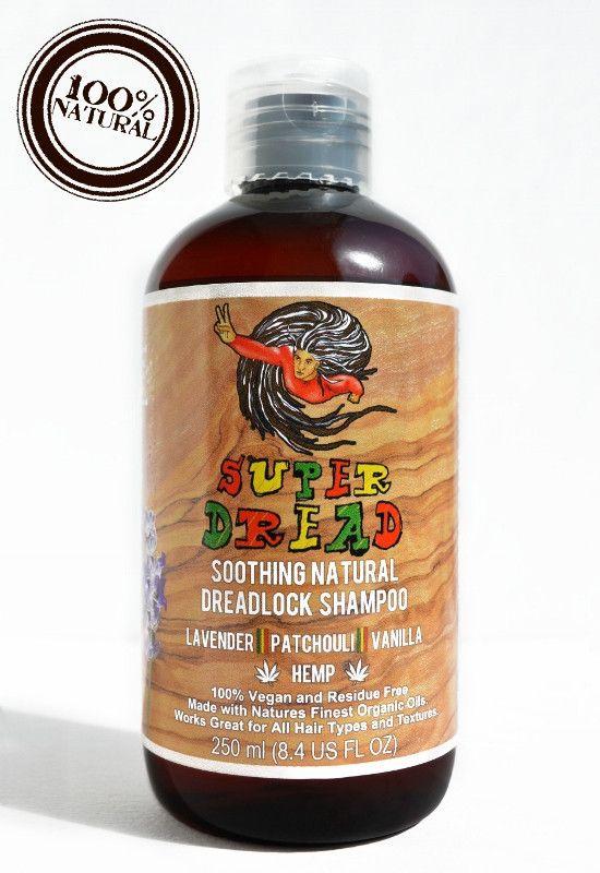 Super Dread Natural Dreadlock Shampoo - Hemp, Lavender, Patchouli and Vanilla