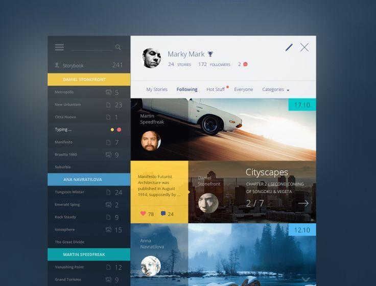 Story_book_bigger | UI / UX | Pinterest