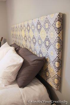 Kindle Your Creativity: Master Bedroom Redo - DIY Fabric Headboard @Katie Hrubec Hrubec Hrubec Schmeltzer Schmeltzer Marshall