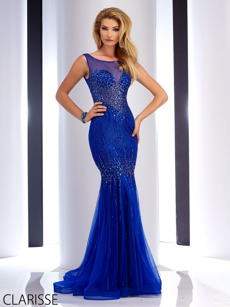 New Arrival Tiered Beading Royal Blue Evening Dresses   Evening ...