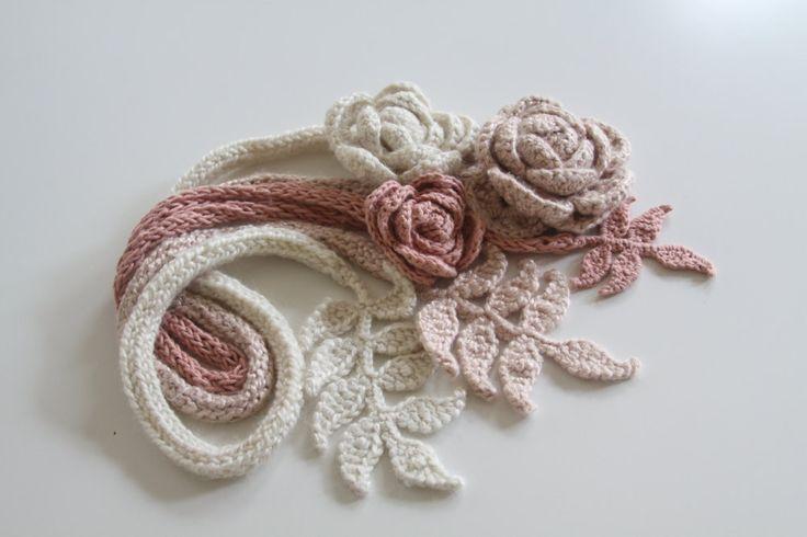 3 Rose Scarves. $120.00, via Etsy.