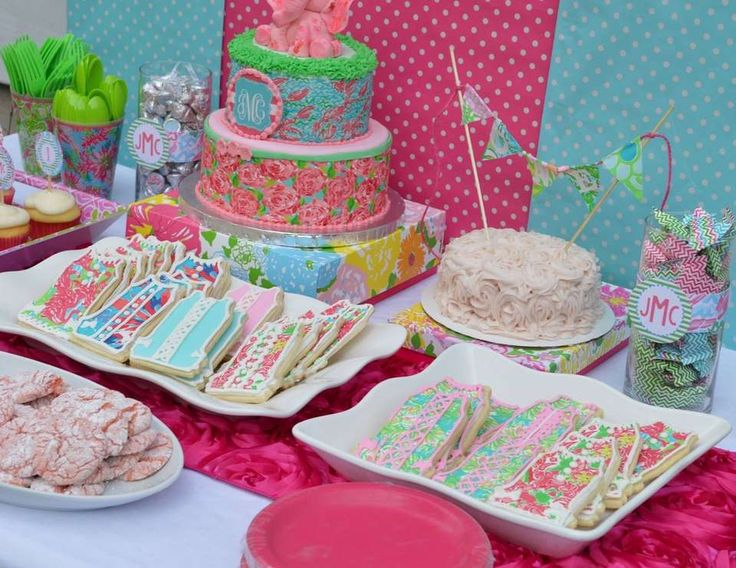 Lilly Pulitzer 1st Birthday Party - Lilly Pulitzer