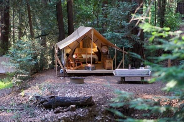 Famed for its ultra-luxurious accommodations on the Big Sur coastline, Ventana Inn recently launched their own take on the glamping experience. Offering 15 canvas tents with daily turndown service, these beauties open right up to some of Big Sur's best hiking trails. | Photo Credit: Ventana Inn & Spa