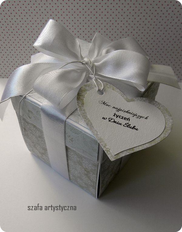 Exploding box / pudełko z niespodzianką - ślubne