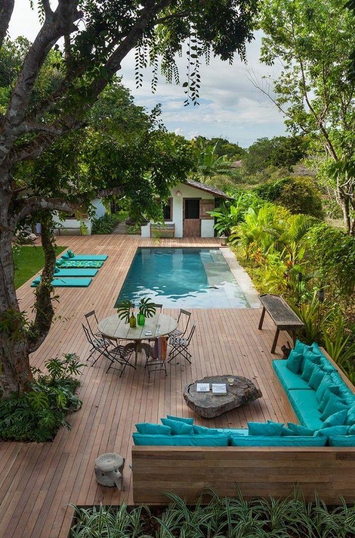 Piscina no jardim – aqui você pode viver o seu prazer de nadar adequadamente   – Garten
