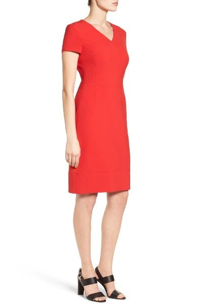 Main Image - BOSS Demida Sheath Dress (Regular & Petite) $218
