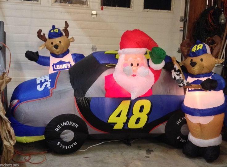 Lowes jimmie johnson nascar santa reindeer crew