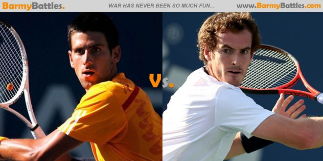 Novak Djokovic vs Andy Murray Who among this two elite player wins for this years competition. #tennis #wimbledon #novakdjokovic #andymurray CLICK HERE TO VOTE: http://www.barmybattles.com/2014/04/01/novak-djokovic-vs-andy-murray/
